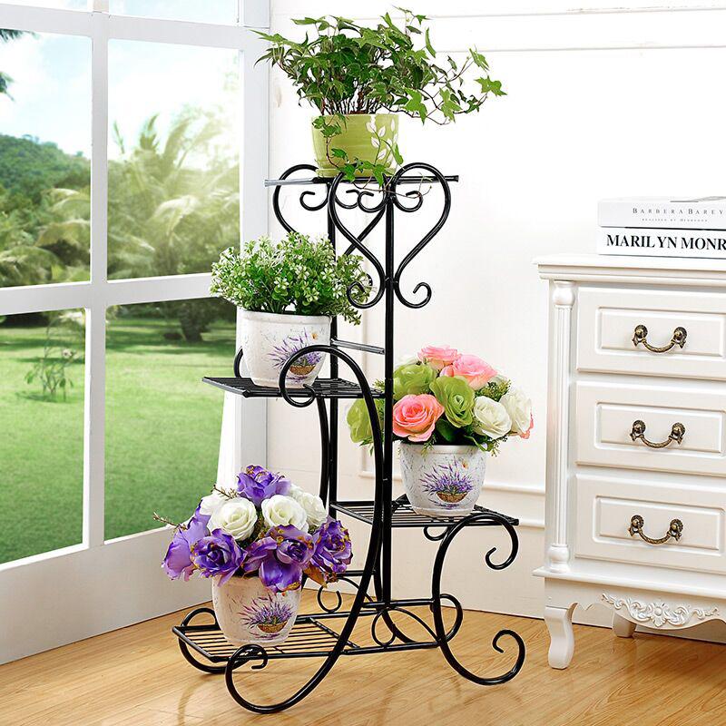 Подставка под цветы кованая напольная