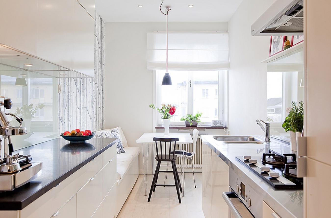 Дизайн удлиненной кухни