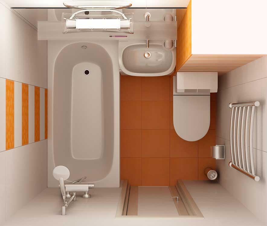 Проект дизайна ванной комнаты совмещенной с туалетом