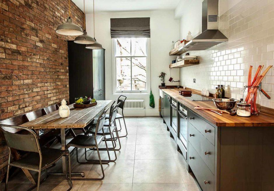 Оформление интерьера кухни стены