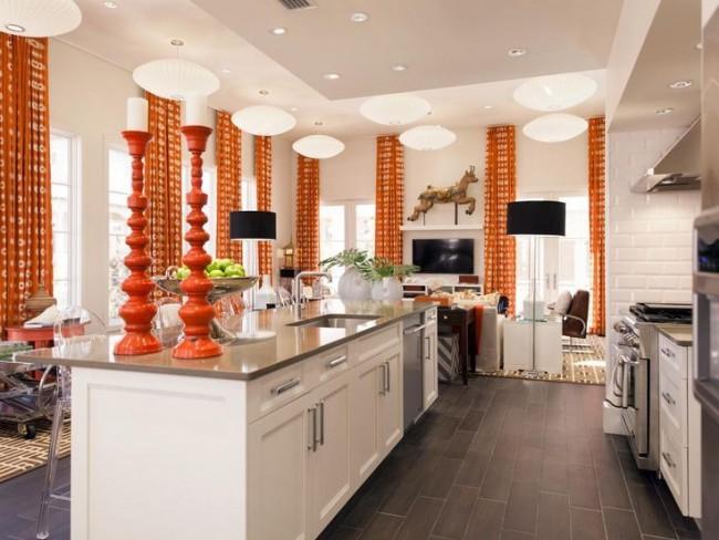 карнизы для штор на кухню