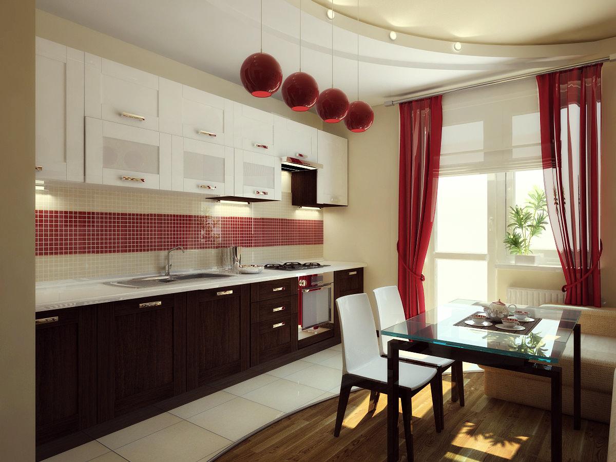 Интерьер занавесок на кухню фото