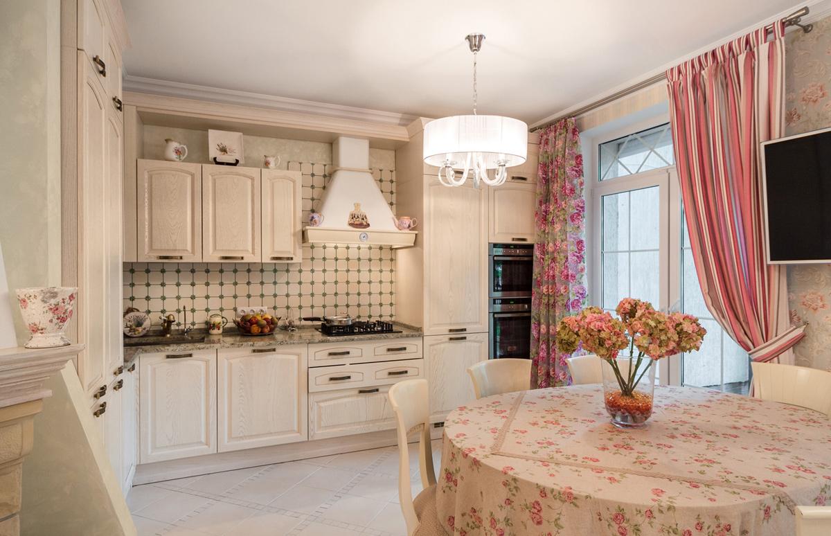 Стиль прованс для кухни дизайн проект