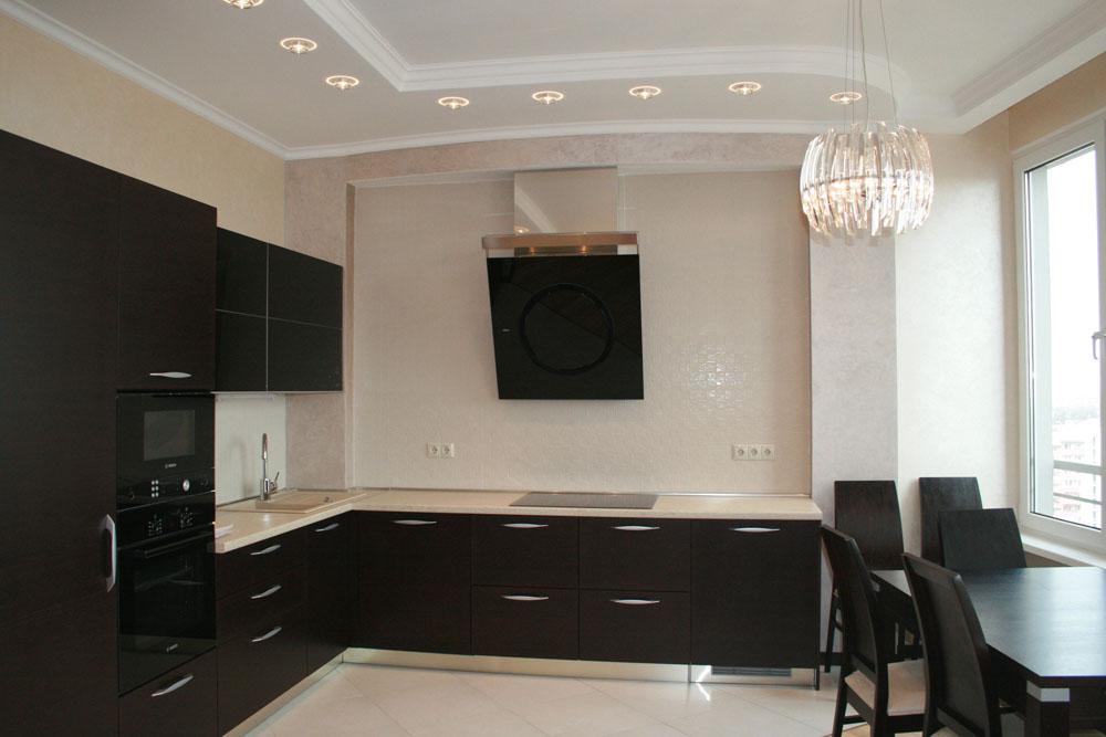 Потолок на кухне с коробом фото