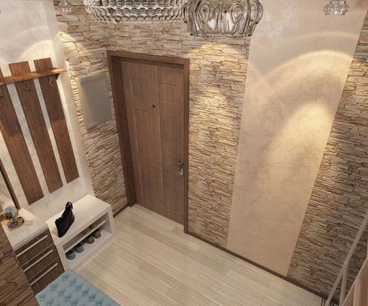 Коридор в квартире дизайн с камнем