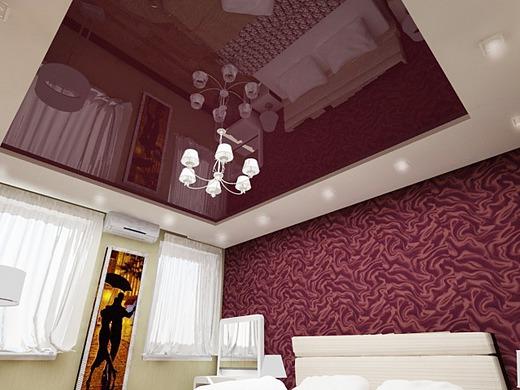 Натяжные потолки интерьер цвет
