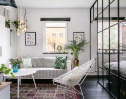 Стильный дизайн маленькой квартиры в Стокгольме
