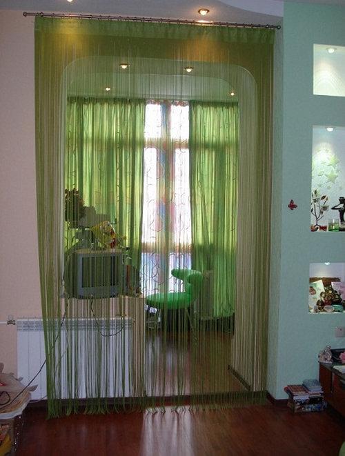 шторы на двери