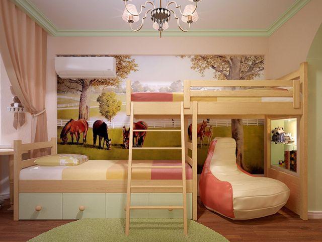 Дизайн однокомнатной квартиры с ребенком - примеры интерьера 36