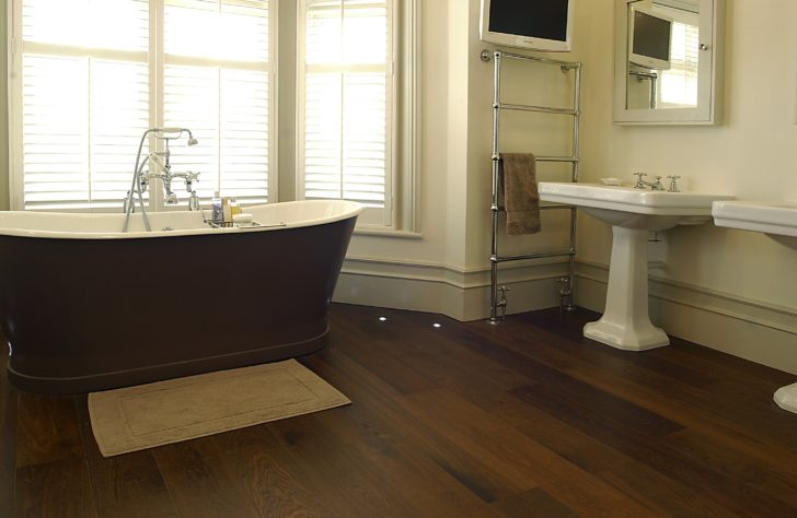Bathroom hardwood floor