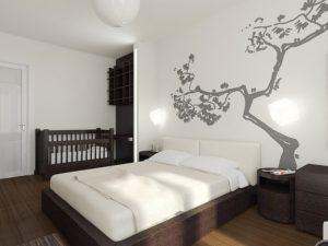 1_Дизайн-спальни-с-детской-кроваткой