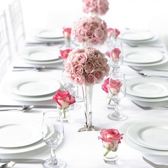 Как сделать цветы для свадебного стола