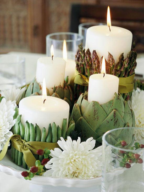 Как украсить свечу на день рождения своими руками