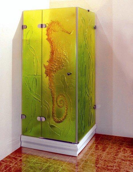 стеклянная дверь для душа