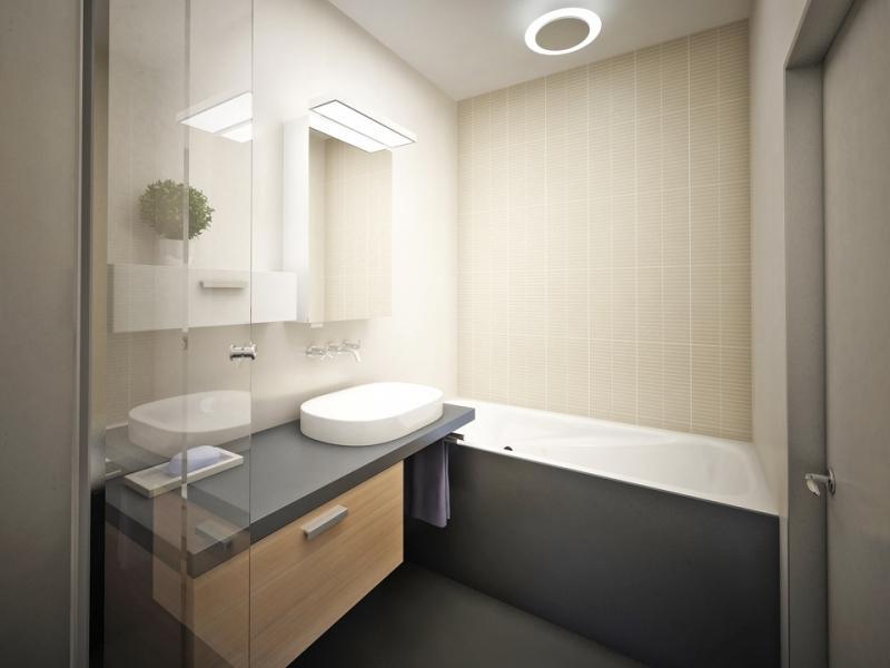 Современный дизайн маленькой ванной комнаты в хрущевке