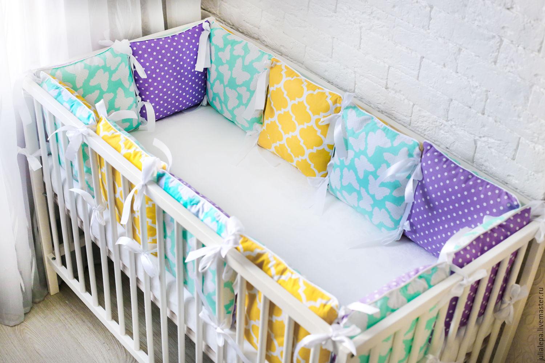 Бортики на детскую кроватку своими руками пошагово с фото