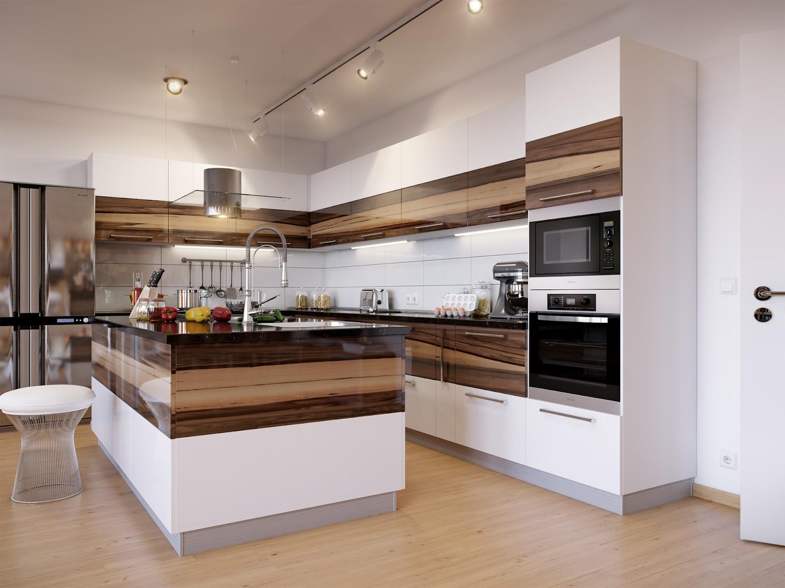 дизайны современных кухонь фото