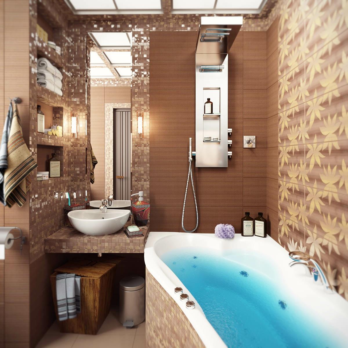Интерьер ванных комнат маленьких фото