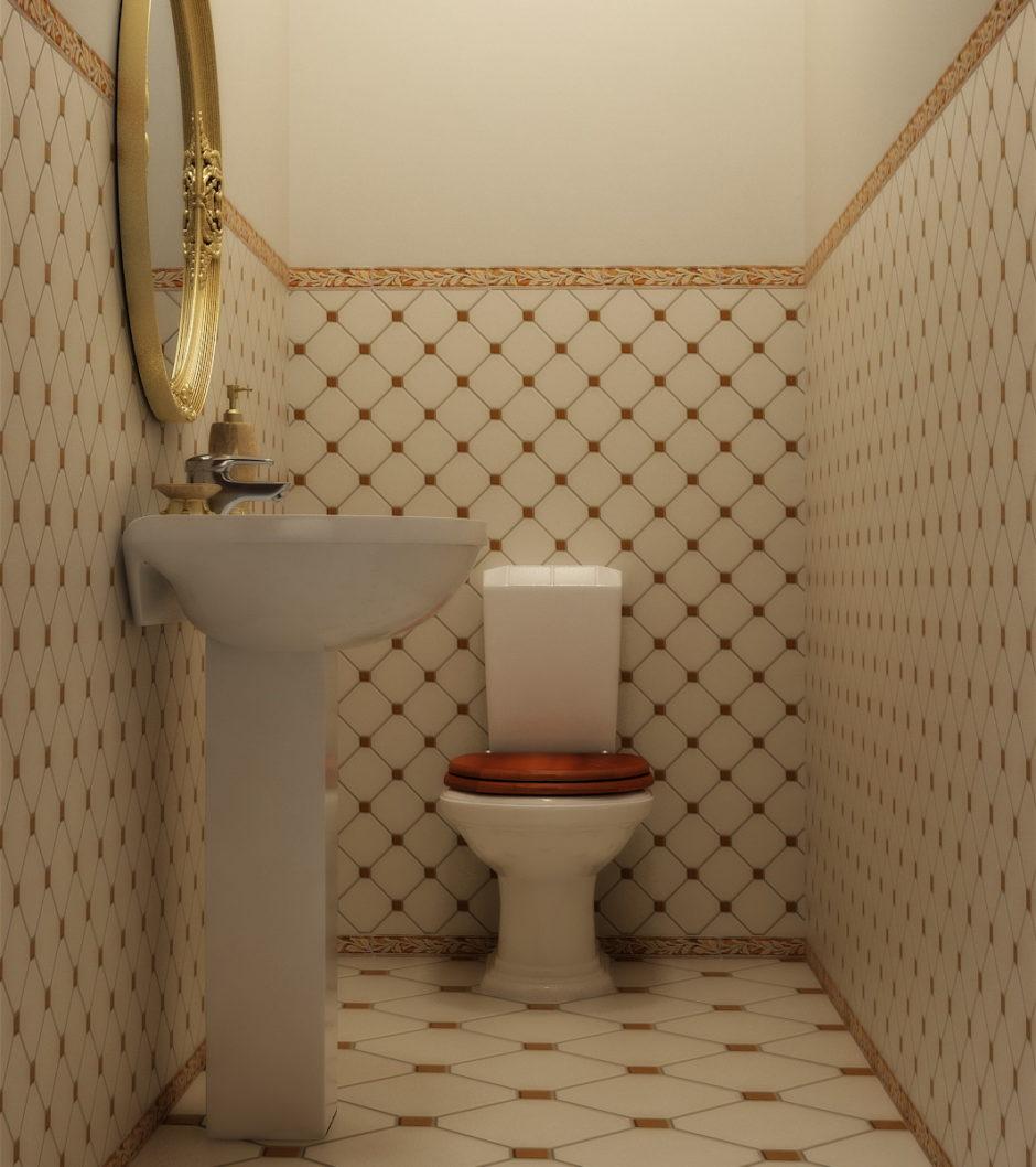 Интерьер туалета своими руками 94