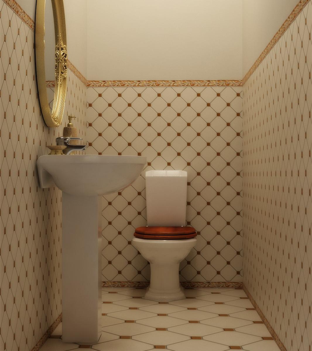 Дизайн классического туалета