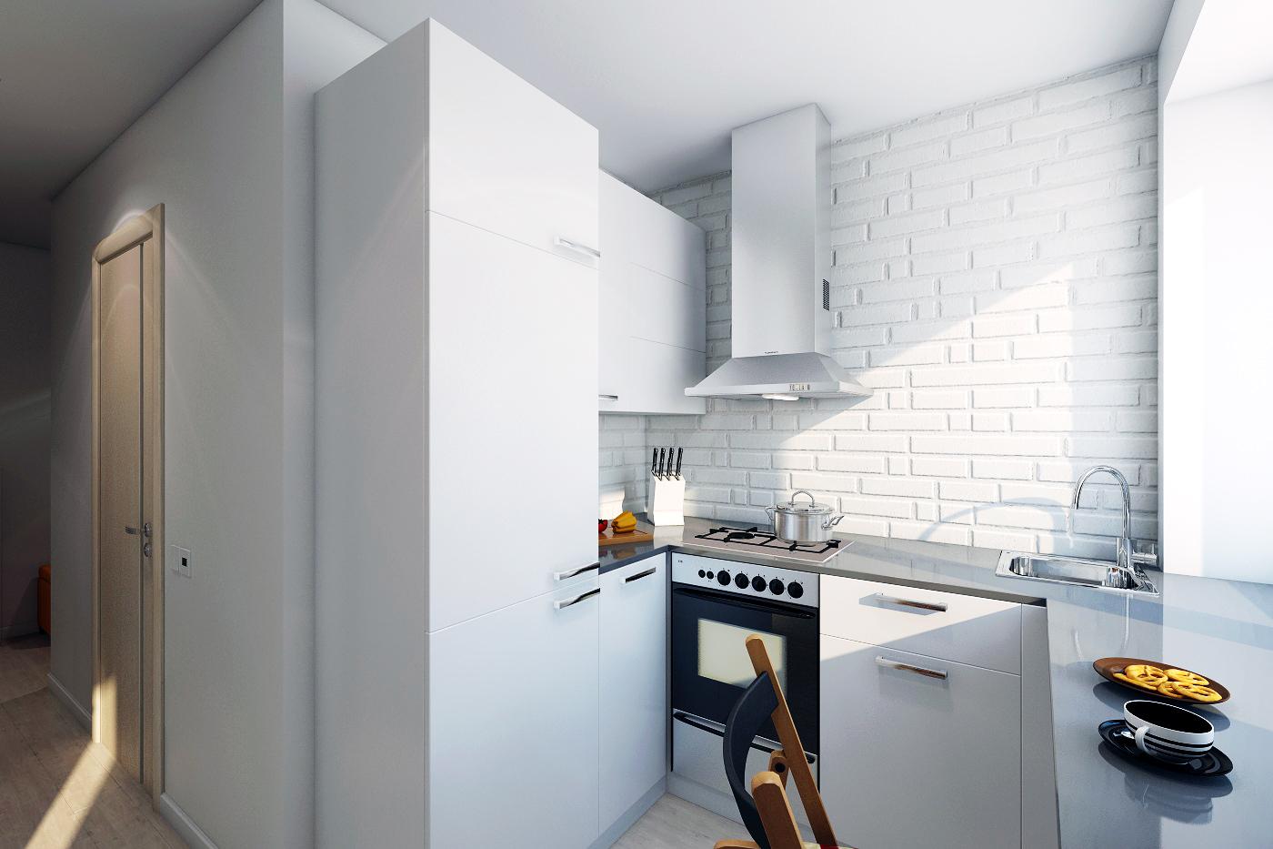 Дизайн стен кухни в хрущевках