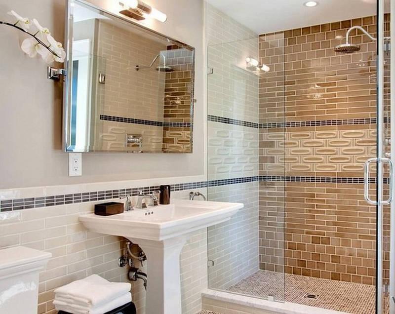красивый дизайн ванной комнаты с душевой кабиной 4705