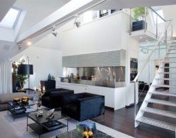 Дизайн интерьеров двухуровневой квартиры – Скандинавия встречается с Азией