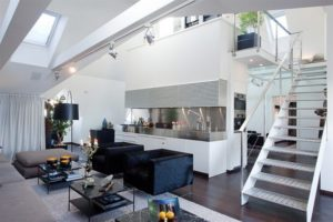 Дизайн интерьеров двухуровневой квартиры