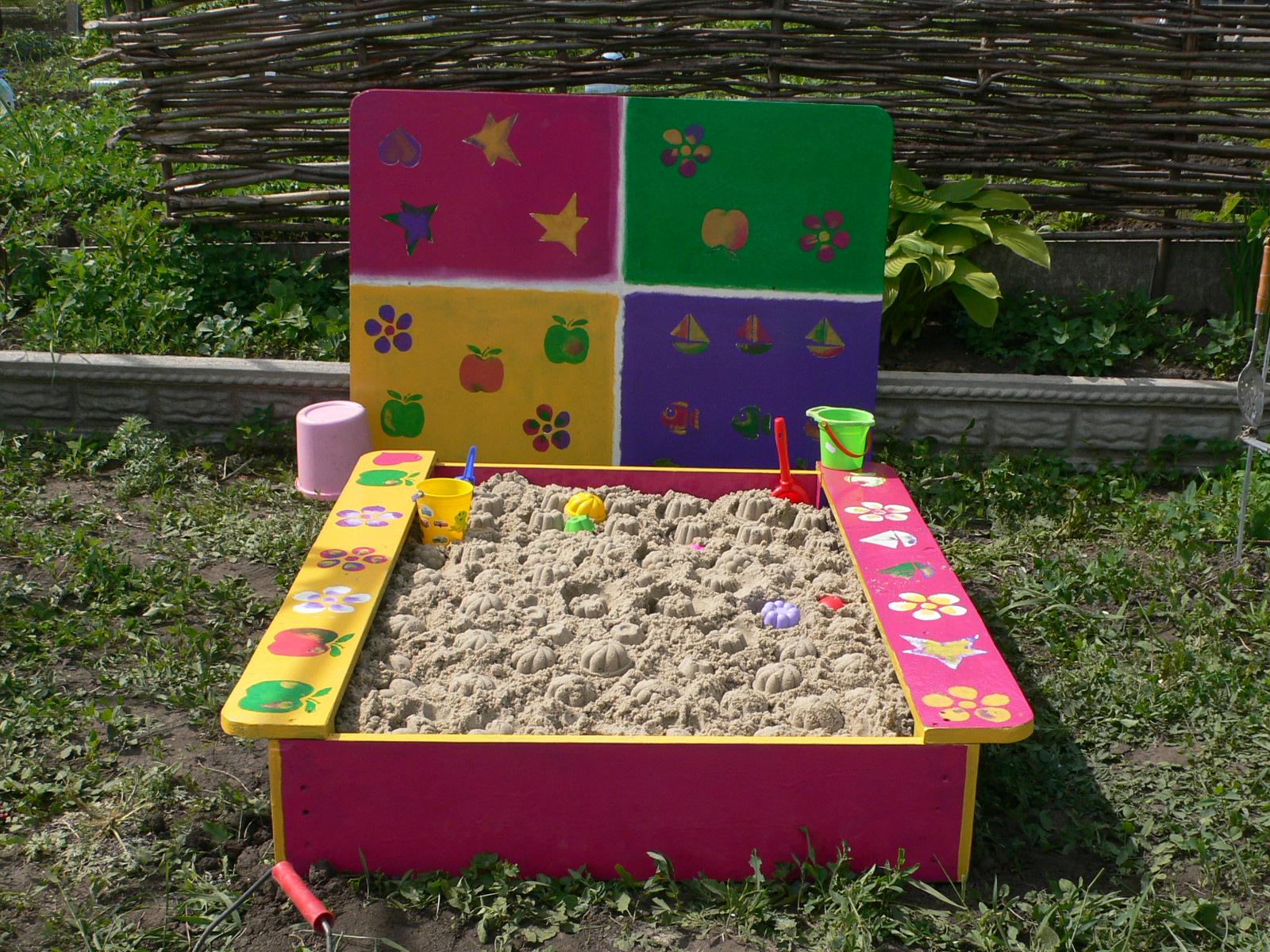 Песочница для сада своими руками фото
