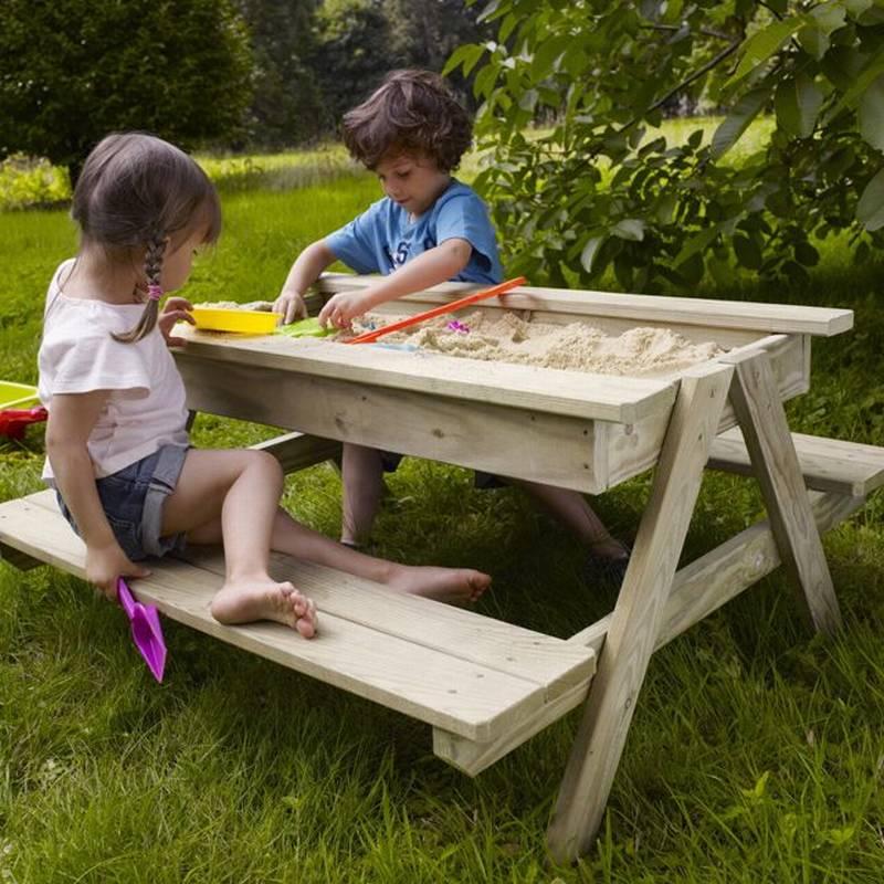 Песочница столик с лавками своими руками