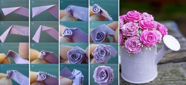Розы своими руками как сделать