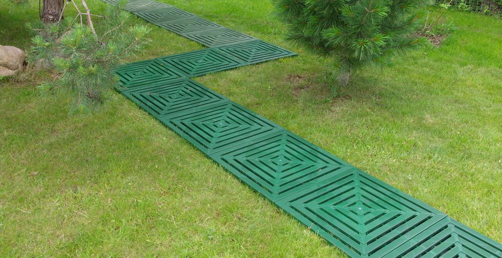 Садовая плитка из пластика своими руками