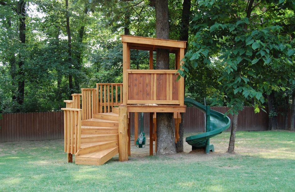 Игровой домик на дереве для детей своими руками 163