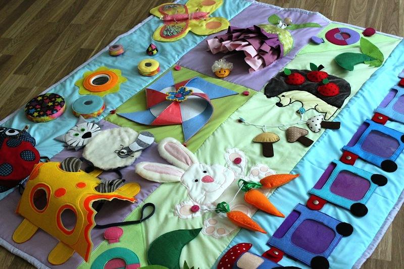 Детские развивающие коврики идеи