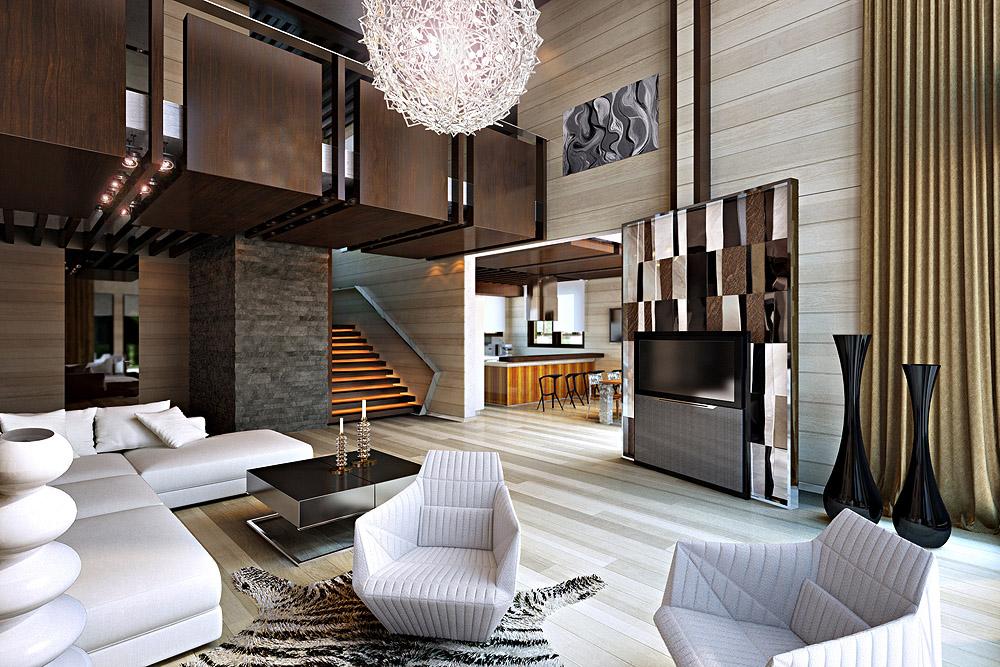 Дизайн дома внутри в современном стиле