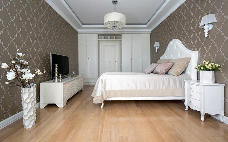 Фото интерьеры спальни с белой мебелью