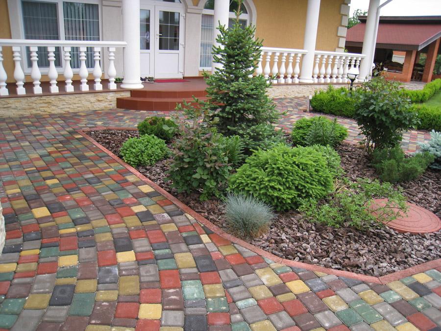 Как сделать двор из тротуарной плитки 287