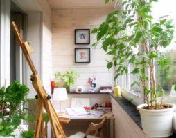 Как создать рабочий кабинет на балконе