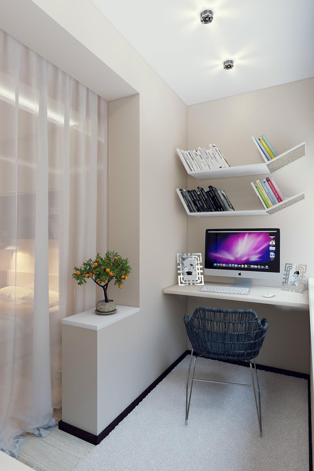Комната совмещенная с лоджией дизайн фото..
