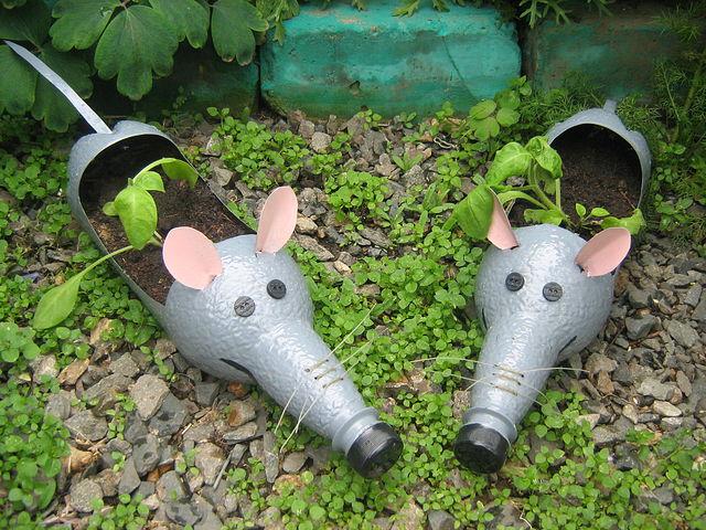 Игрушки для сада и огорода своими руками из пластиковых бутылок с