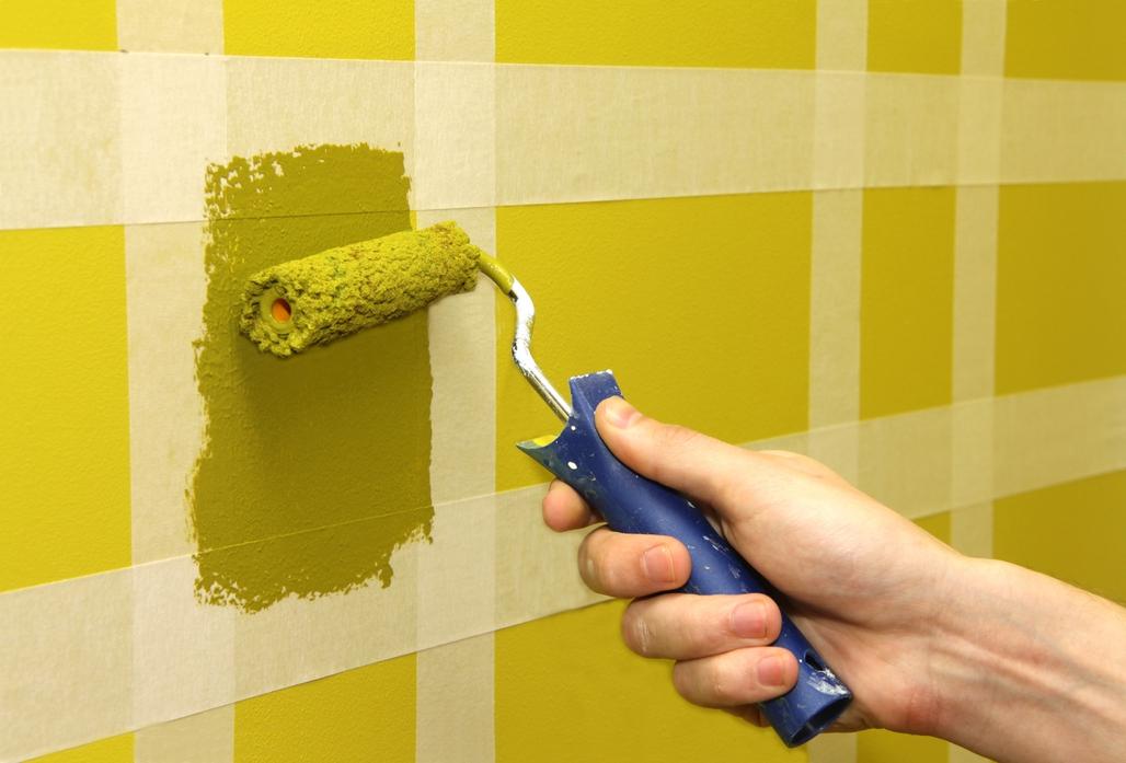 Дизайн стен краской своими руками