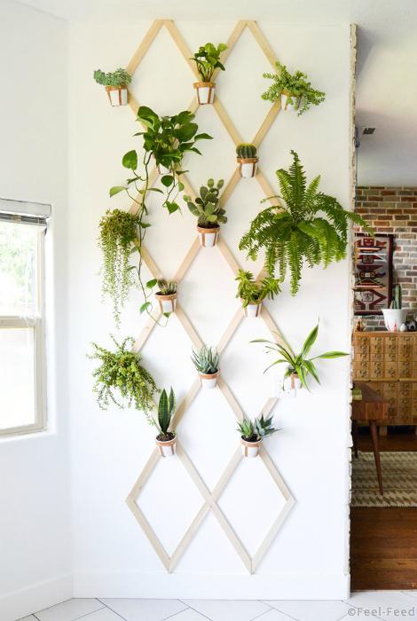 Идеи для цветов в квартире своими руками 72