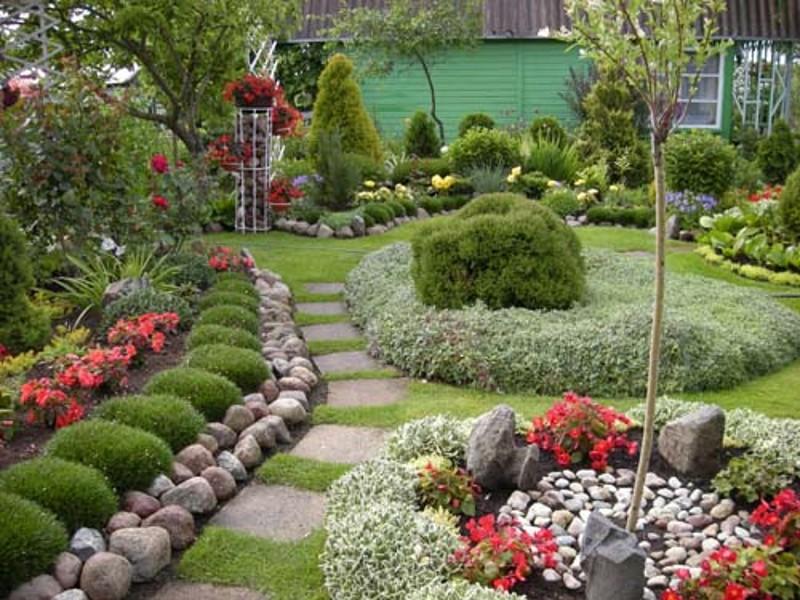 Украшение садового участка своими руками с