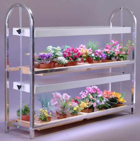Полка из стекла для цветов