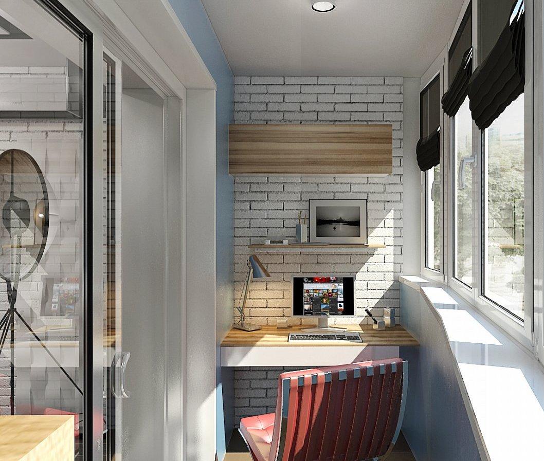 Рабочее место на балконе, как создать - фото примеров.