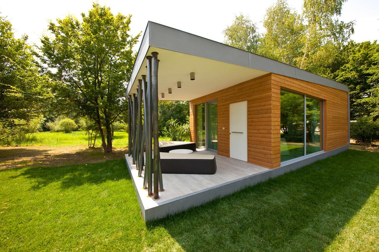 модульный дачный домик фото кофе