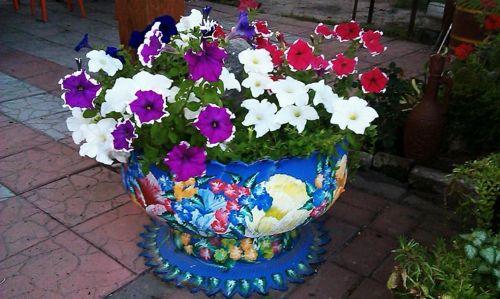 Цветы из баллонов