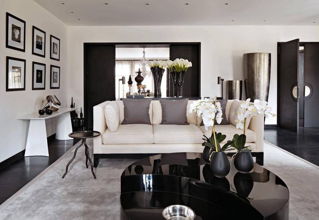 дорожка дизайн гостиной в черно белых тонах фото своем отце