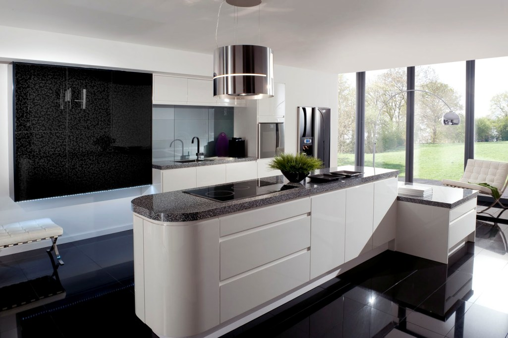 красивая белая кухня фото нас много