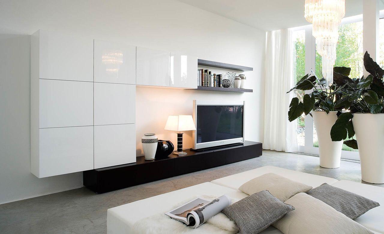 Современная стенка в гостиную дизайн